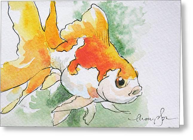 Fantail Goldfish 2 Greeting Card