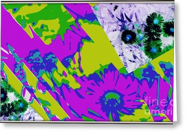Fantasi Violaflori Greeting Card by Halina Nechyporuk