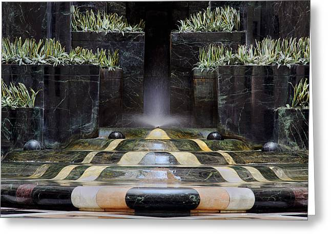 Greeting Card featuring the photograph Fantastic Fountain by Glenn DiPaola