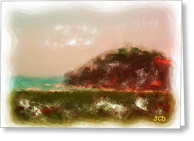 Fantastic Scenery Greeting Card by Jean-Claude Delhaise
