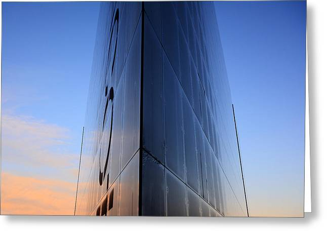 Fantasy Building In Glass Greeting Card
