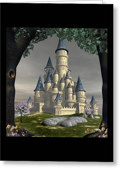 Fantasy Castle Greeting Card by David Griffith