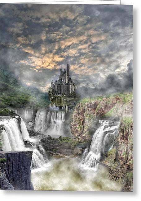 Fantasy Castle Greeting Card by Regina  Williams