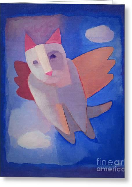 Fantasy Cat Greeting Card by Lutz Baar
