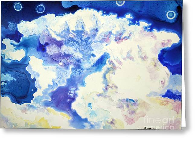 Greeting Card featuring the painting Fantasy Cloud by Joan Hartenstein