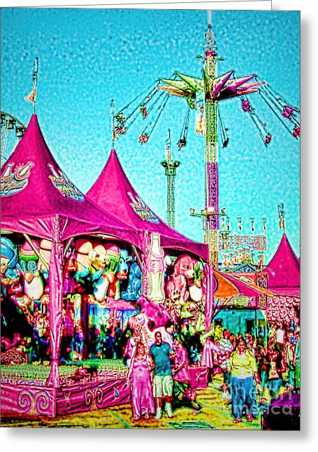 Greeting Card featuring the digital art Fantasy Fair by Jennie Breeze
