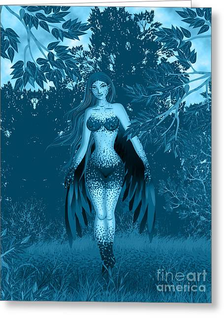 Fantasy Fairy Greeting Card by Kriss Orayan