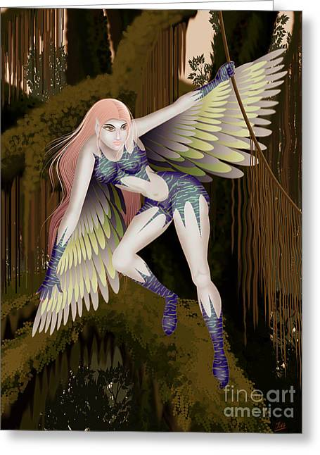 Fantasy Fairy2 Greeting Card by Kriss Orayan