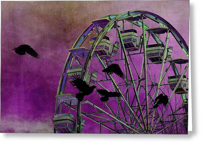 Fantasy Ferris-wheel Greeting Card by Gothicrow Images