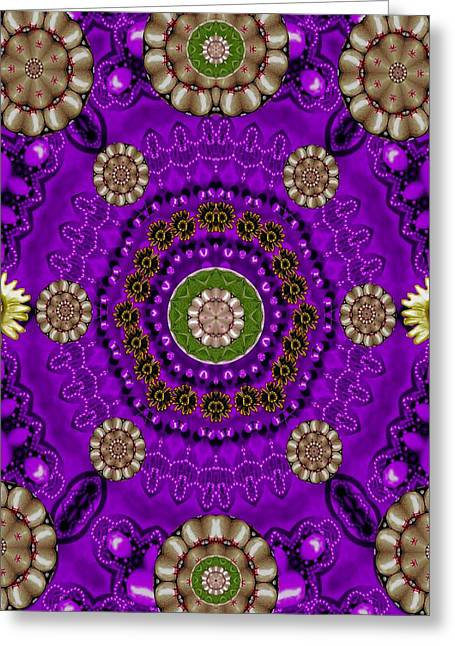 Fantasy Floral In Purple Greeting Card