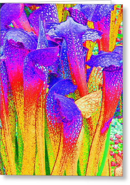 Fantasy Flowers Greeting Card by Margaret Saheed