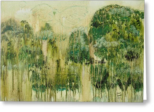 Fantasy Forest Greeting Card by Diane Pape