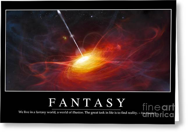 Fantasy Inspirational Quote Greeting Card