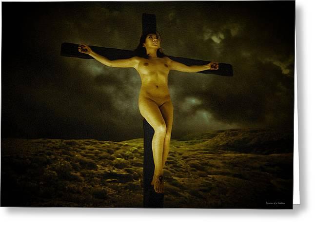 Asian Jesus Crucifix Greeting Card