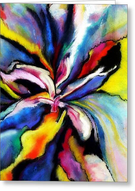 Fantasy Orchid Greeting Card by Jodie Marie Anne Richardson Traugott          aka jm-ART