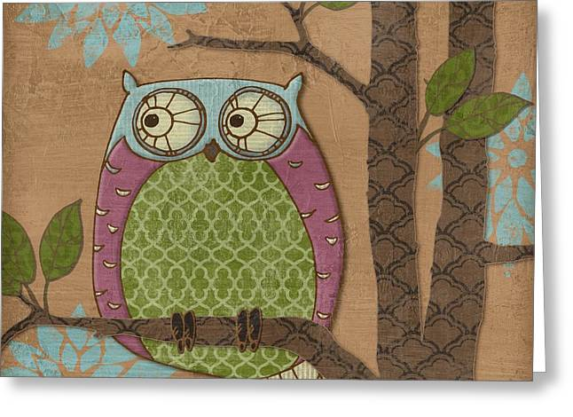 Fantasy Owl Iv Greeting Card by Paul Brent