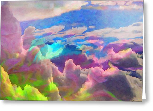 Abstract Fantasy Sky Greeting Card