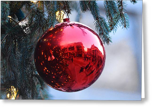 Faneuil Hall Christmas Tree Ornament Greeting Card