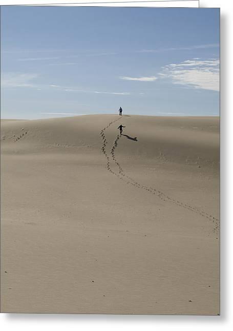 Greeting Card featuring the photograph Far Away In The Sand by Tara Lynn