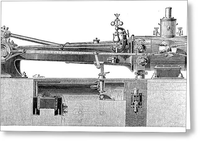 Farcot Steam Engine Greeting Card by Science Photo Library
