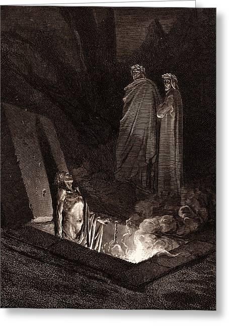 Farinata Degli Uberti, By Gustave DorÉ. Dore Greeting Card