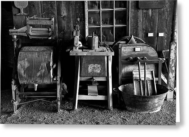 Farm Antiques Greeting Card by Richard J Cassato