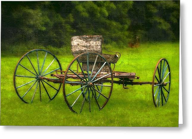 Farm Buggy Greeting Card by Dave Hrusecky