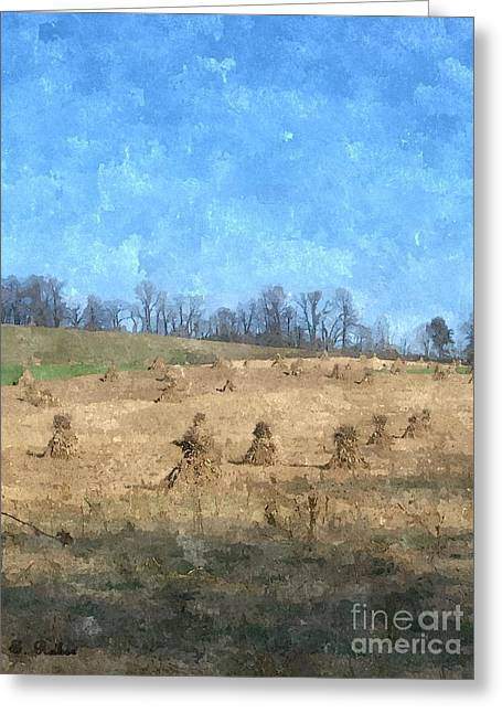 Greeting Card featuring the painting Farm Days 2 by Sara  Raber