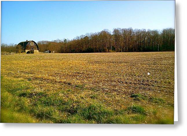 Farm Field With Old Barn Greeting Card by Amazing Photographs AKA Christian Wilson