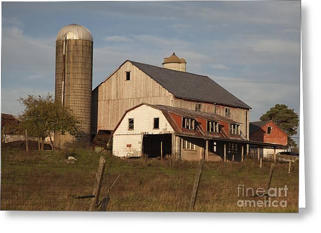 Farm House At Sundown Greeting Card