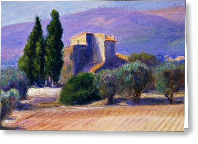 Farm House In Provence Greeting Card by William James Glackens