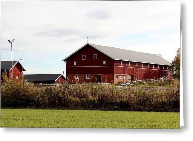Farm House Greeting Card