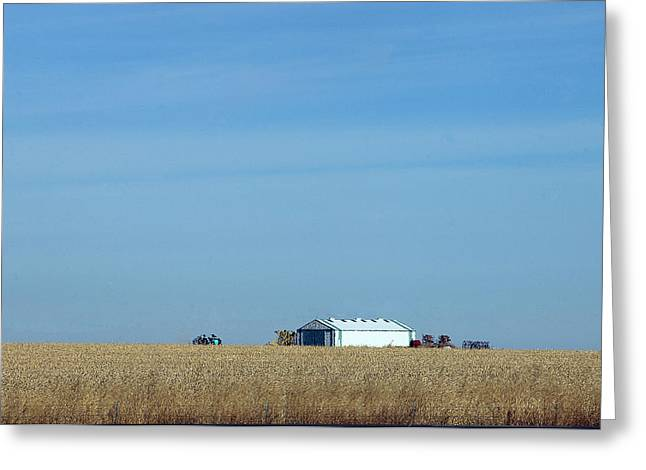 Farm House Kansas Greeting Card