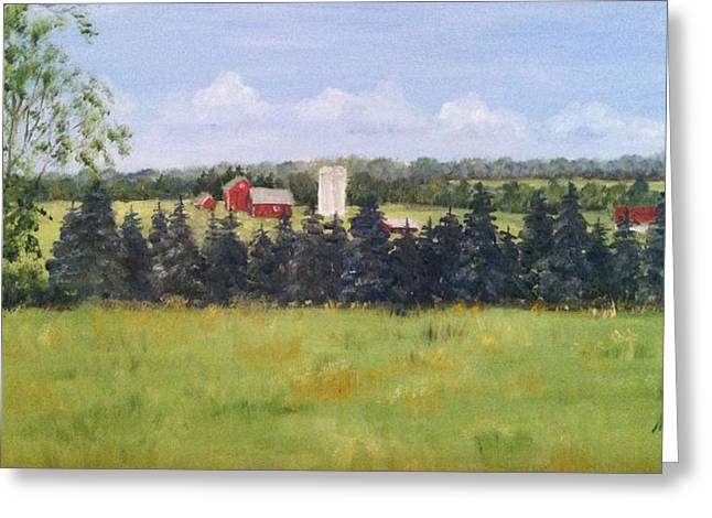 Farm In Rushland Greeting Card