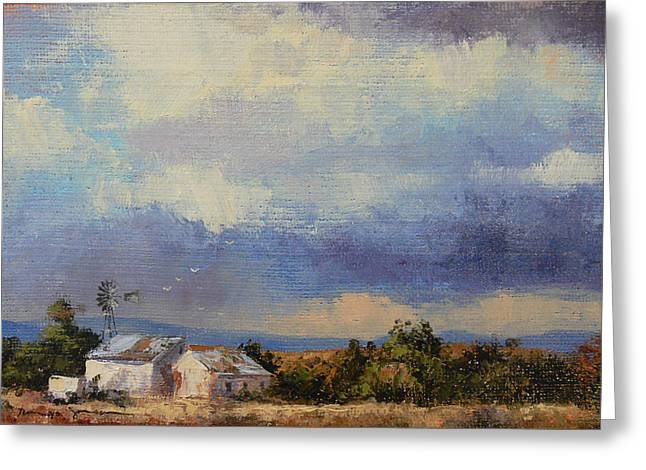 Farm In The Karoo Greeting Card