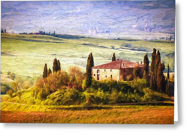 Farm In Tuscany Greeting Card