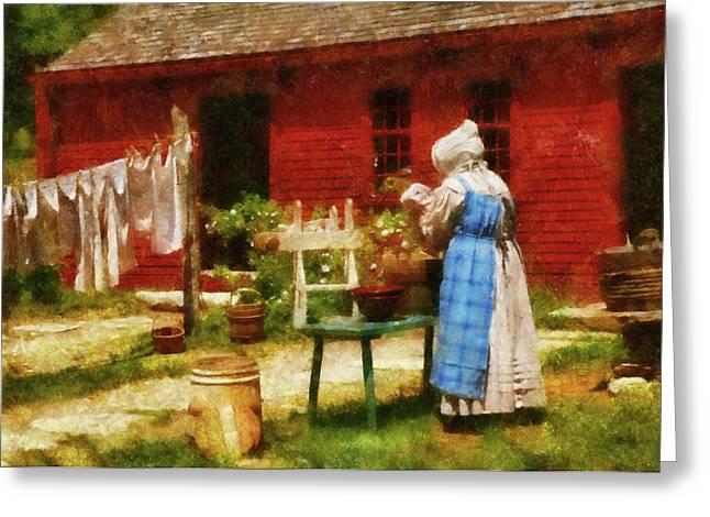 Farm - Laundry - Washing Clothes Greeting Card
