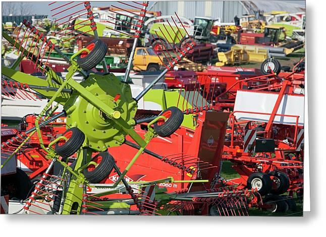 Farm Machinery Greeting Card by Jim West