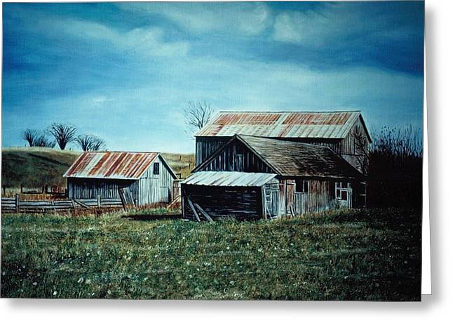 Farm Near Fenton Michigan Greeting Card