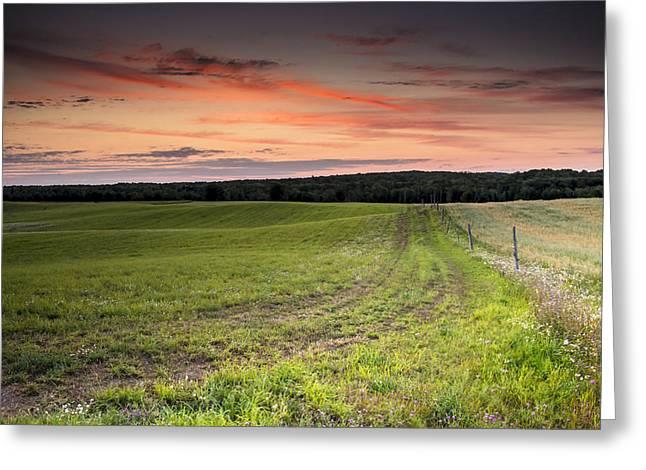 Farm Road Dawn Greeting Card