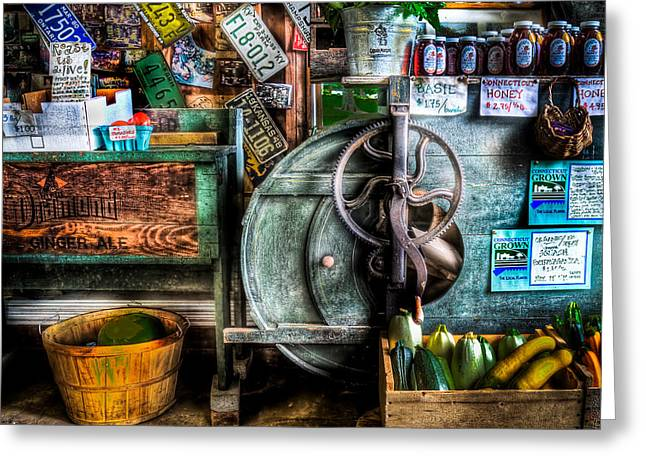 Farm Stand Two Greeting Card by Ercole Gaudioso