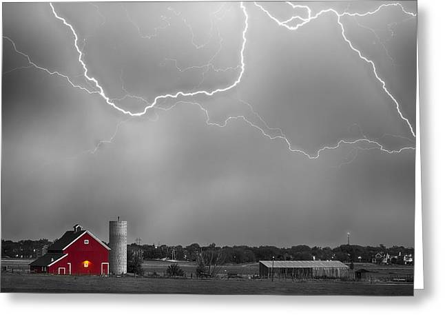 Farm Storm Hdr Bwsc Greeting Card by James BO  Insogna