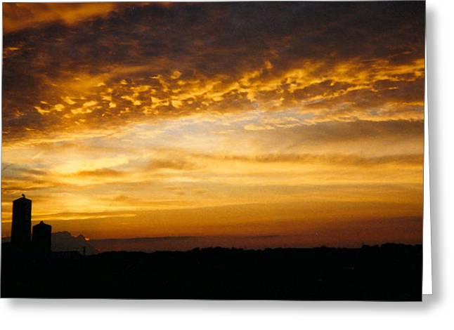 Greeting Card featuring the photograph Farm Sunset by Peg Toliver