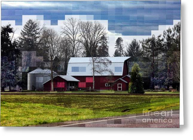 Farm Tapestry Greeting Card by Erica Hanel