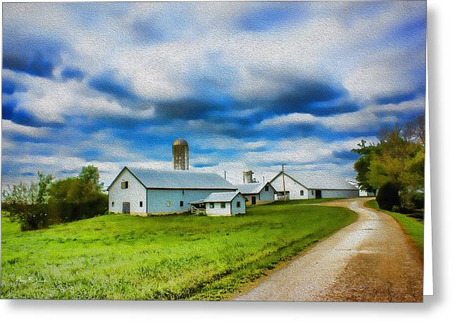 Farm - Barns - Silos - Farm Time Greeting Card by Barry Jones