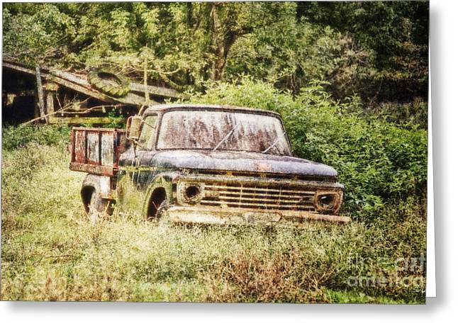 Farm Truck Greeting Card by Scott Pellegrin