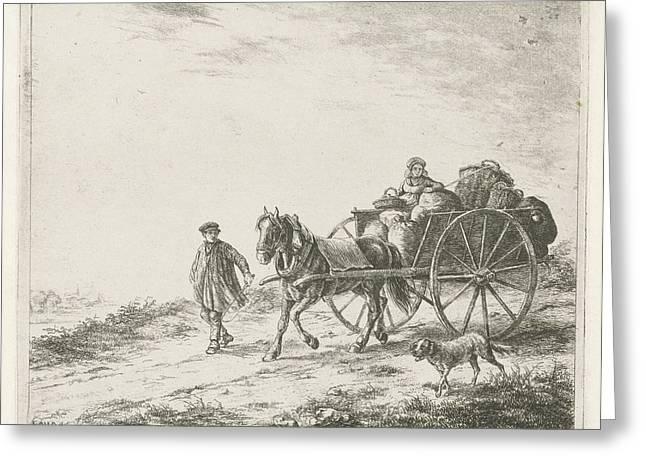 Farm Wagon With Load, Christiaan Wilhelmus Moorrees Greeting Card by Christiaan Wilhelmus Moorrees