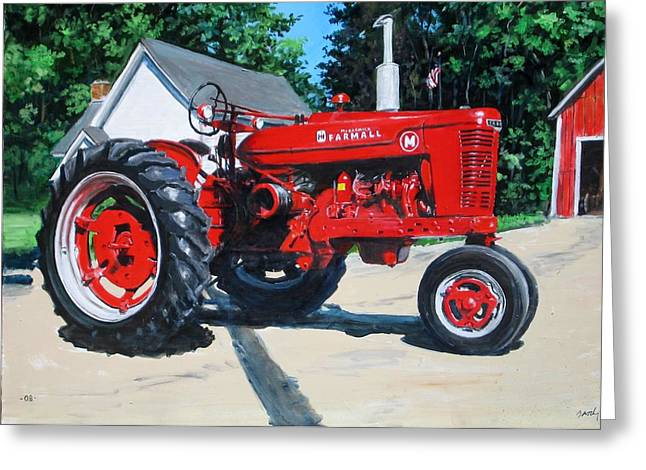 Farmall M Greeting Card