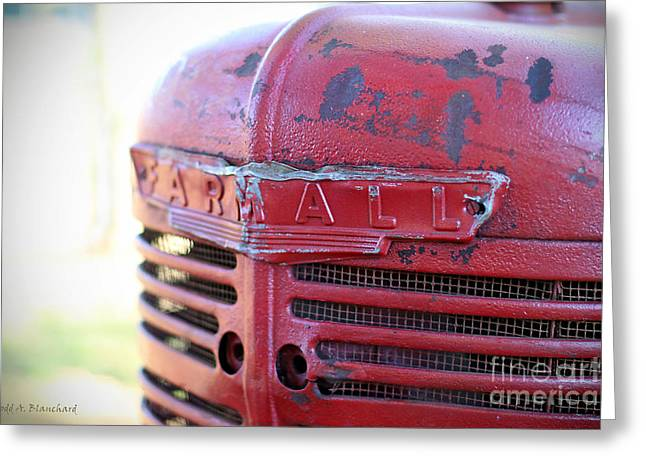 Greeting Card featuring the photograph Farmall by Todd Blanchard