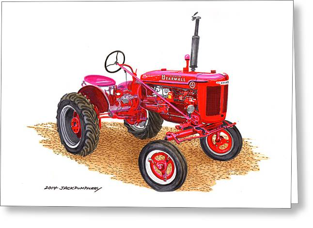 Farmall Tractor 1946 Model A Greeting Card